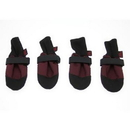 Muttluks Woof Walkers Dog Boots Set of Four - Burgundy, Small 2.75