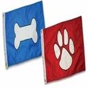 Paws Aboard Bone Flag - Blue