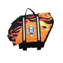 Paws Aboard WF1600 Designer Doggy Life Jacket Flames XL