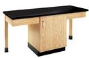 Diversified Woodcrafts 2104K 2 Station Table W/Phenolic R Top, Plain Apron & Door Cab