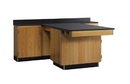 Diversified Woodcrafts 2814KF Perimeter Workstation W/ One Door