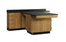 Diversified Woodcrafts 2836KF Perimeter Workstation W/ Door And 4 Drawers
