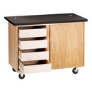 Diversified Woodcrafts 4222KF-RS Mobile Demonstration Table W/Drawers