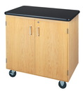 Diversified Woodcrafts 4401K Mobile Demo Cart with Plastic Laminate Top