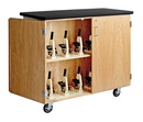 Diversified Woodcrafts 4701K Mobile Microscope Storage Cabinet
