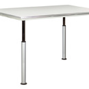 Diversified Woodcrafts ALT-6042GG Adjustable Leg Table With/Grey Gl. Top