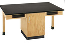 Diversified Woodcrafts C2404K 4 Station Table W/ Phenolic Resin Top, Compartment Apron & D