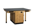 Diversified Woodcrafts C2416KF Four Station Service Center W/ Flat Top