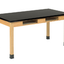Diversified Woodcrafts C7146K30N 30X60 Oak Table With Book Compartments
