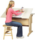 Diversified Woodcrafts CDTC-1 Drafting/Drawing Table/Desktop Mod