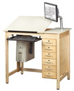 Diversified Woodcrafts CDTC-71 Drawing Table System With Drawers