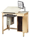 Diversified Woodcrafts CDTC-72 Drawing Table System With Board Storage