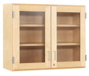 Diversified Woodcrafts D06-4812M Wall cabinet, Glass Double Doors