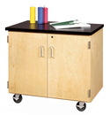 Diversified Woodcrafts EMDC-2436C Enclosed Mobile Demonstration Cabinet