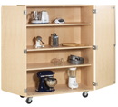 Diversified Woodcrafts MSSC-200 Mobile Shelf Storage Cabinet