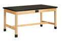 Diversified Woodcrafts P7206K34SE Plain Apron Table