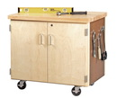 Diversified Woodcrafts WMSC-3135 Mobile Storage Cabinet - 2 Doors