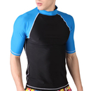 GOGO Men's Short Sleeve Rashguard Swim Tee, Wetsuits Basic Skins