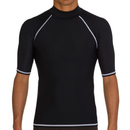GOGO Mens Rash Guard Short Sleeve Top