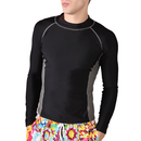 GOGO Men's Wet Suit Rashguard Long Sleeve, Shirt Only