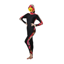GOGO Women's Hooded One Piece Diving Suit, Flower Print