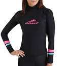 GOGO Wetsuits Women's Basic Skins Long Sleeve Crew Rash Guard Shirt