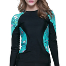 GOGO UV Sun Protection Women Basic Skins Long Sleeve Crew Rashguard