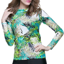 GOGO Women Skins Long Sleeve Crew Rash Guard Shirt