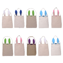 Aspire Party Gift Bag Easter Bunny Bags Kids' DIY Craft Tote Jute Reusable Grocery Shopping Baskets