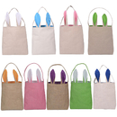 Aspire Easter Bunny Bags Dual Layer Tote Jute Treat Party Gift Bag Reusable Grocery Shopping Baskets