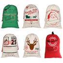 Aspire Wholesale Christmas Giant Canvas Drawstring Bags Reusable Grocery Shopping Bag Gift Storage
