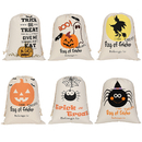Aspire Wholesale Halloween Durable Canvas Drawstring Bags Trick Candy Storage Reusable Present Bag