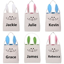 Aspire Personalized Easter Bunny Bags Tote Jute Party Gift Bag Reusable Grocery Shopping Baskets