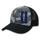 Decky 1054 Camo CURVE Bill Trucker Caps