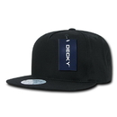 Decky 1064 5 Panel Cotton Flat Bill Snapback