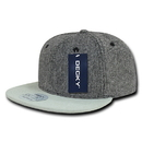 Decky 1114 Salt and Pepper Snapback with Suede Bill, SNP