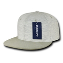 Decky 1131 Heather Jersey Knit Snapbacks, Cream