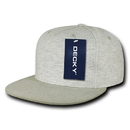 Decky 1132 5 Panel Heather Jersey Knit Caps, Cream