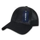 Decky 1142 Quilted Curve Trucker Caps, Black