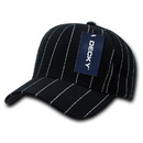 Decky 208 Pin Striped Adjustable Ball Caps
