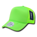 Decky 221 Solid Color Neon Trucker Caps