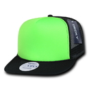 Decky 222 Flat Bill Neon Foam Trucker Caps
