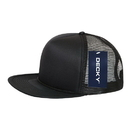 Decky 223 Solid Color Flat Bill Foam Trucker