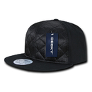 Decky 357 Quilted Snapback, Black
