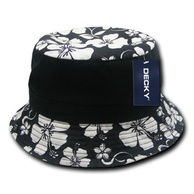Opentip.com  Decky 457 Floral Brim Polo Bucket Hat 871d81f1f93f