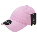 Decky 5120-PNK Women's Relaxed Washed Cotton Cap, Pink