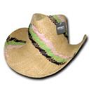 Decky 521 Hillary, Yellow Straw Cowboy Hats
