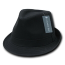 Lunada Bay 553 Basic Poly Woven Fedora Hats