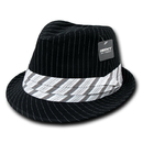 Decky 556 Pinstriped Fedora Hat