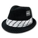 Decky 556 Pinstripe Fedora Hat
